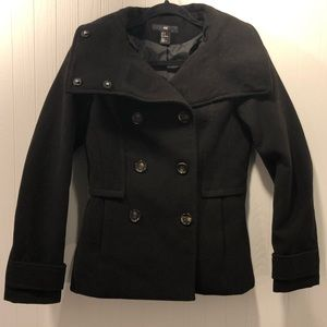 H&M Peacoat with Tortoise Buttons
